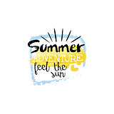Summer Adventure Message Watercolor Stylized Label