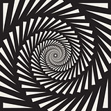 Vector Black and White Spiral Triangles Swirl Abstract Optical Illusion