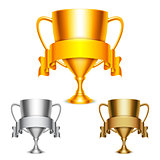 Trophy Cups with Ribbons