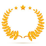 Winner Laurel Wreath and Stars