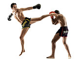 Muay Thai kickboxing kickboxer boxing men isolated