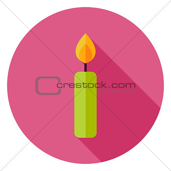Candle Circle Icon
