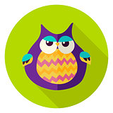 Cute Owl Circle Icon