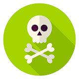 Dead Man Skull Circle Icon