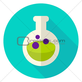 Flask with Poison Circle Icon