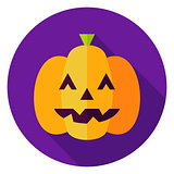 Jack O Lantern Pumpkin Circle Icon
