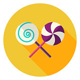 Lollipop Sweets Circle Icon