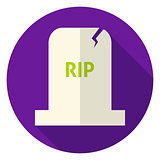 RIP Tombstone Circle Icon