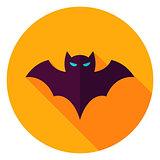 Scary Bat Circle Icon