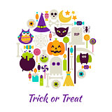 Trick or Treat Objects over White