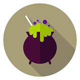Witch Poison Pot Circle Icon