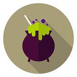 Witch Poison Pot Circle Icon