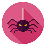 Spider Hanging on Web Icon