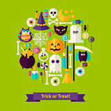 Trick or Treat Halloween Concept