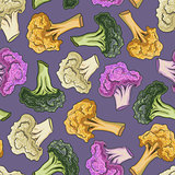 Seamless pattern cauliflower