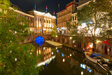Canal Oudegracht and bridge, Utrecht, Netherlands
