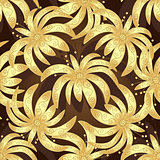 Seamless brown vintage pattern