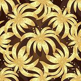 Seamless brown vintage pattern