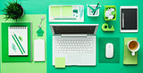 Green creative desktop