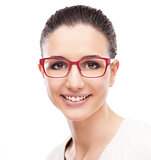Smiling model posing with fashion eyewear
