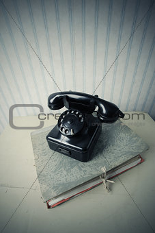 Old black phone