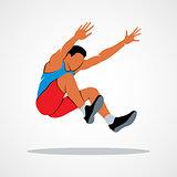 Long jump trajectory