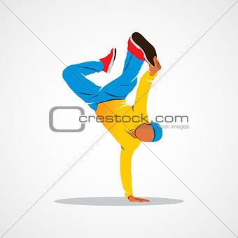 Breakdance dancing man