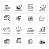 Shopping and Marketing Icons Set.
