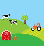 vector farm background