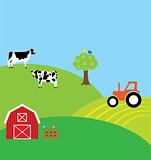 vector farm background