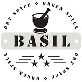 Stamp print for spices - Basil