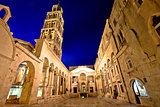 Split historic landmarks evening view