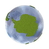 Antarctica on planet Earth