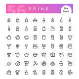Drink Line Icons Set
