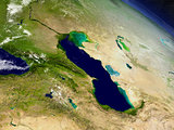 Caucasus region from space