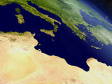 Tunisia from space
