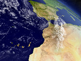 Morocco from space