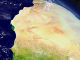 Mauritania from space