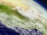 Ivory Coast, Ghana and Burkina Faso from space