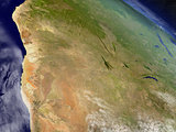 Namibia and Botswana from space