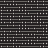 Vector Seamless Black And White Irregular Horizontal Lines Pattern