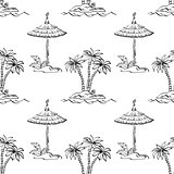 Seamless exotic pattern, outline