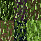 set of six seamless patterns