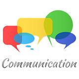 Transparent speech bubbles - communication concept