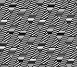 Seamless geometric lines pattern.