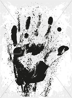 Abstract grunge hand