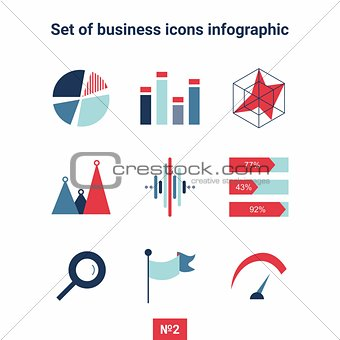 Business and infographic Icon set