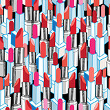 Cool pattern graphic lipstick