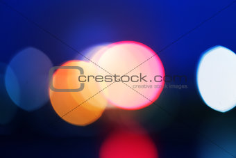 Abstract blurred city lights