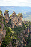 Three Sisters in the Blue Mountains of Australia.